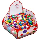 Pop up spotty ball pool with shooting hoop (no balls included)